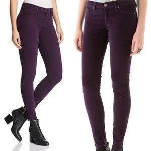 New Hudson Nico High Rise Purple Velvet Jeans